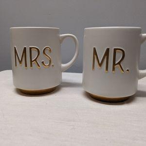 HALLMARK MR. & MRS. Ceramic Coffee Mug Set 17oz